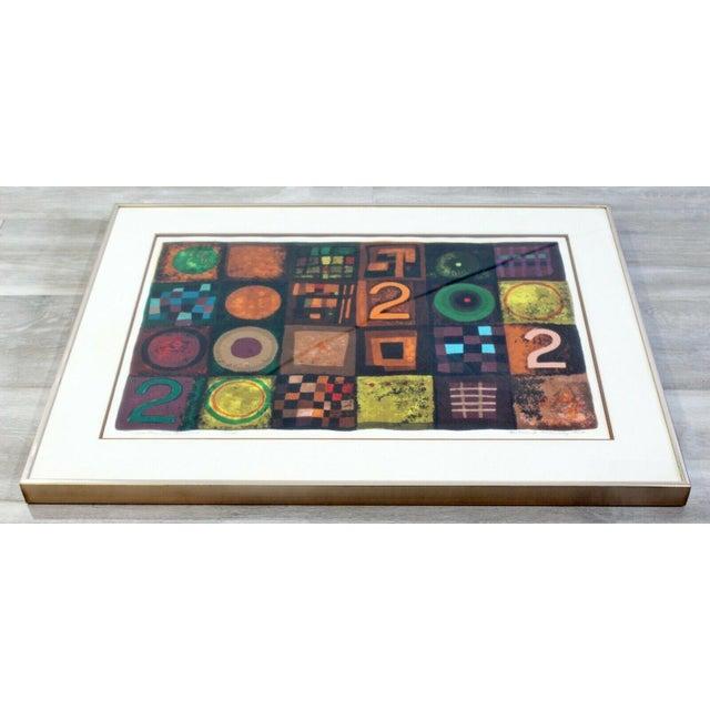 Modern Contemporary Modern Framed Lithograph Signed Barbara Oldsheusky 181/300 For Sale - Image 3 of 7