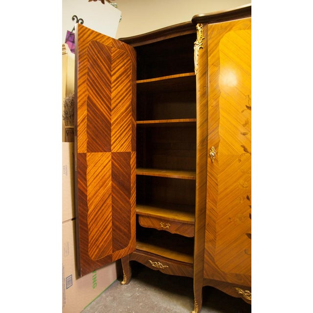 Wood French Armoire For Sale - Image 7 of 11