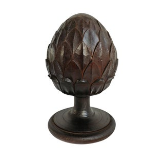 Wood Pinecone Finial For Sale