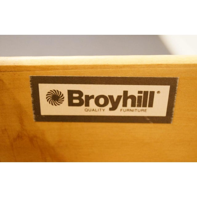 Late 20th Century Broyhill Cherry Triple Door Dresser For Sale - Image 9 of 13