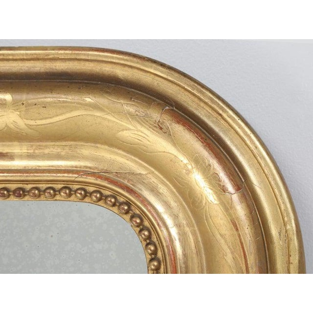 Antique French Louis Philippe Mirror Original Gilding For Sale In Chicago - Image 6 of 12