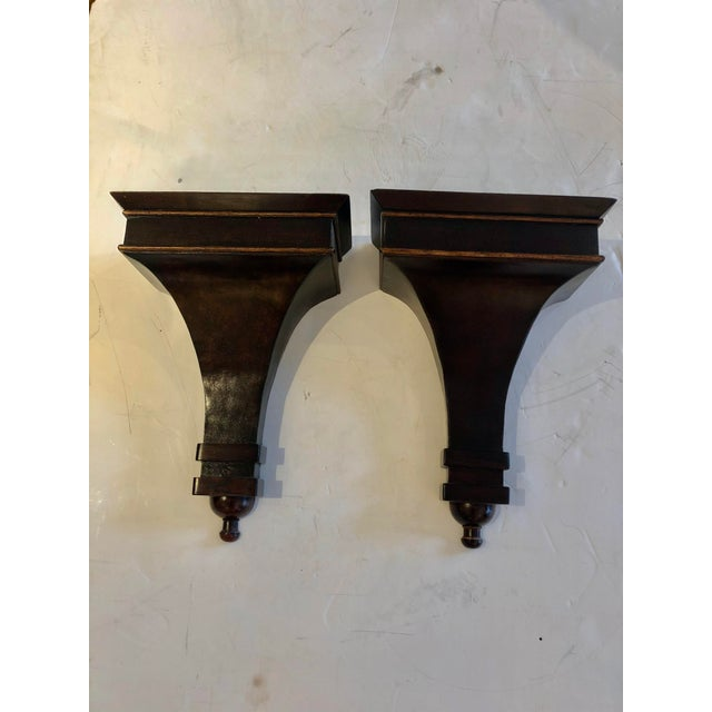 Mahogany Regency Style Wall Brackets -A Pair For Sale - Image 10 of 10