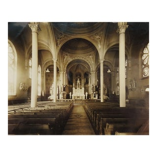 "1941 ""Sacred Heart Church"" Cathedral Interior Photograph For Sale"