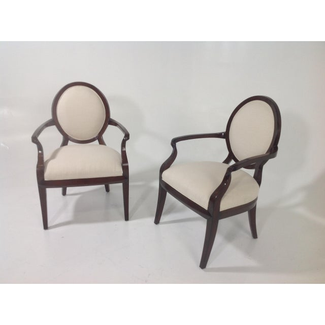 Contemporary Faux Suede Modern Accent Chairs - A Pair For Sale - Image 3 of 4