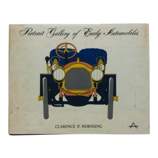 """Circa 1975 """"Portrait Gallery of Early Automobiles"""" by Clarence P. Hornung Coffee Table Display Book For Sale"""