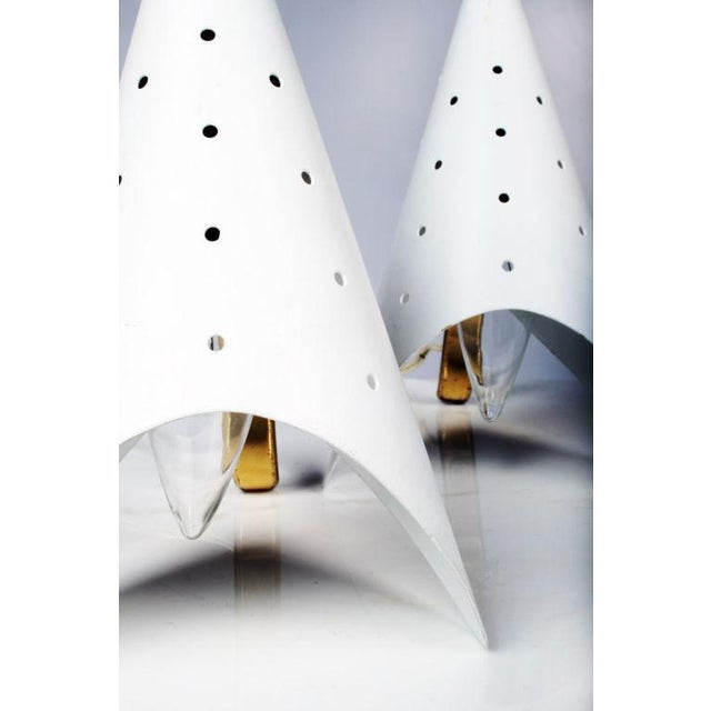 Italian Gino Sarfatti Cone Bedside Table Lamps - a Pair For Sale - Image 3 of 6