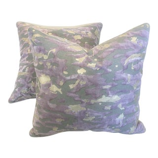 Fortuny Pillows in Lavender and Silver - a Pair