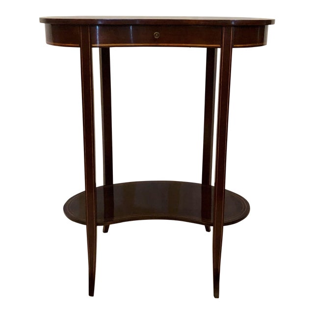 Antique English Mahogany Kidney-Shaped Table, Circa 1880. For Sale