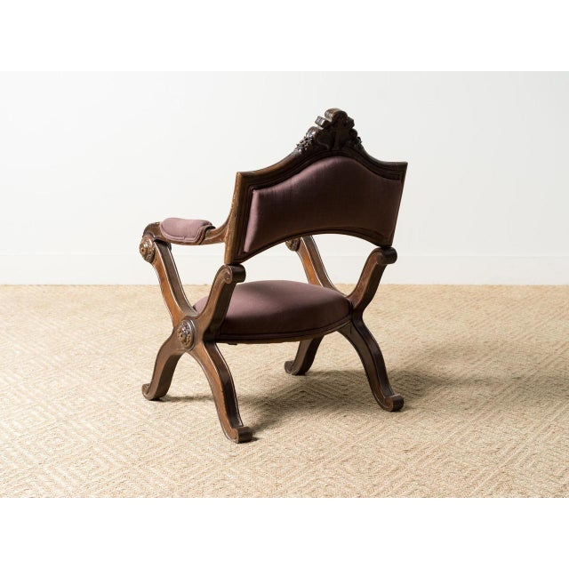 French Antique French Carved Chair For Sale - Image 3 of 6