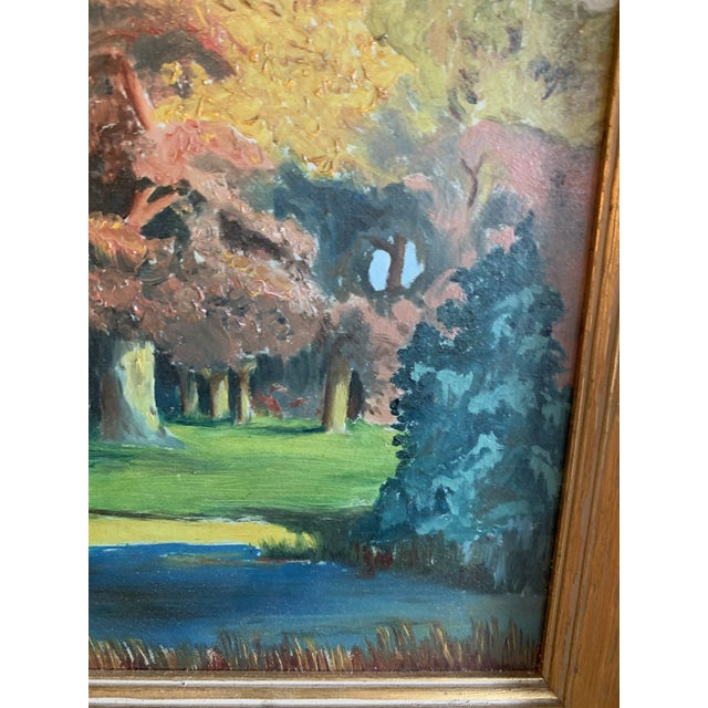 American Autumn Plein Air Painting For Sale - Image 3 of 5