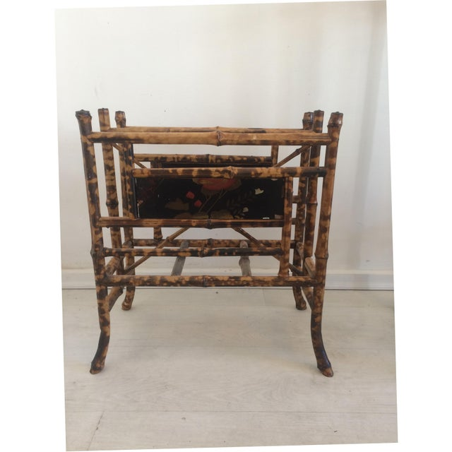 19th Century Boho Chic Bamboo Magazine Rack For Sale In West Palm - Image 6 of 9