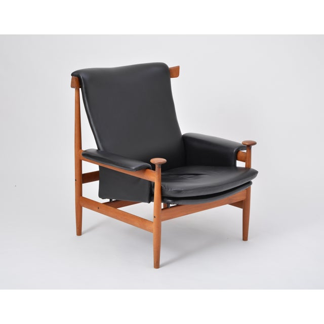Black Reupholstered Bwana Model 152 Lounge Chair by Finn Juhl for France & Son For Sale - Image 12 of 12
