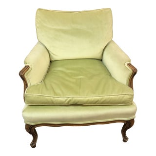 1960s Vintage Green Upholstered Chair For Sale
