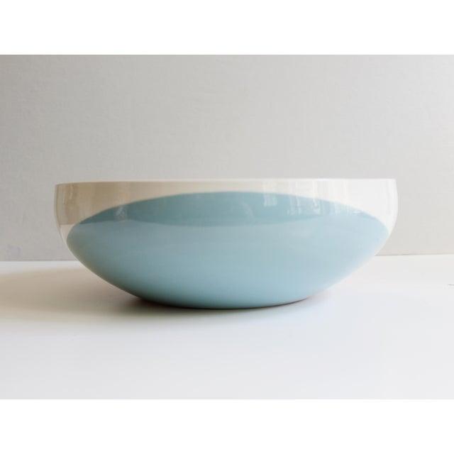 Eva Zeisel Eva Zeisel for Hall China Tritone Ceramic Serving Bowl For Sale - Image 4 of 5