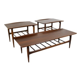 1960s Bassett Artisan Surfboard Coffee Table and Side Tables - Set of 3 For Sale