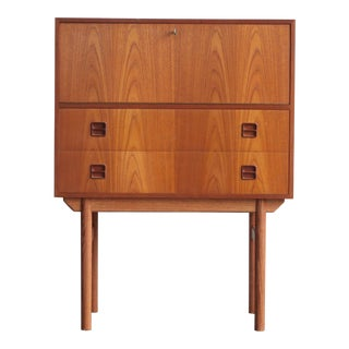1960s Mid-Century Modern Teak Secretary Desk For Sale