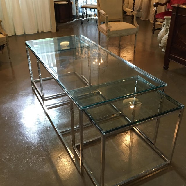 Mid-Century Modern Coffee Table & Side Tables - Set of 3 For Sale - Image 4 of 7
