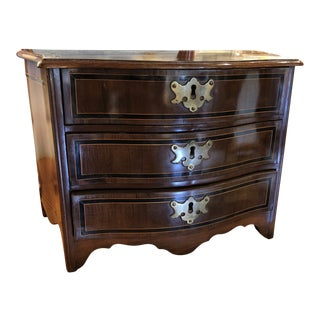 French Miniature Mahogany Inlaid Chest For Sale