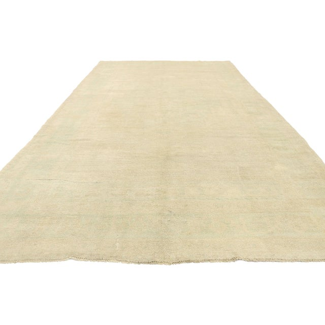 Contemporary Vintage Turkish Oushak Gallery Rug - 5'08 X 11'03 For Sale - Image 3 of 9