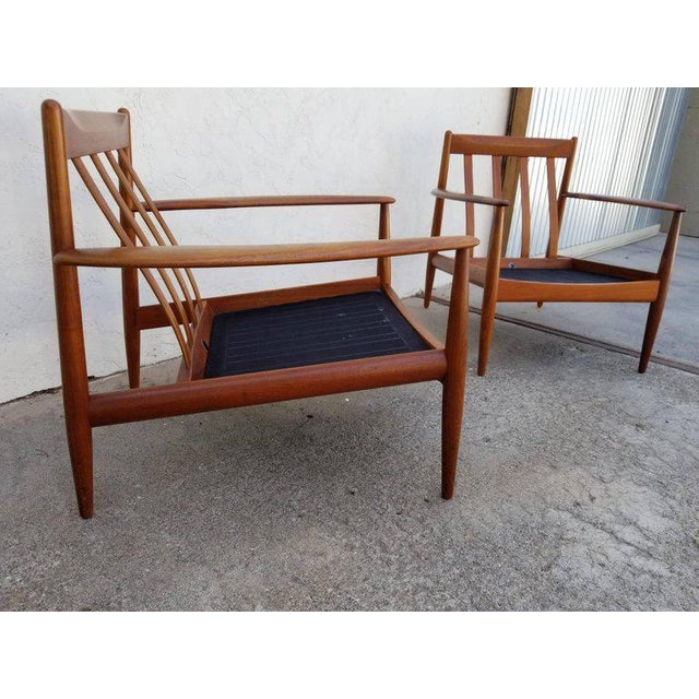 Grete Jalk for France & Daverkosen Teak Lounge Chairs - A Pair For Sale - Image 11 of 13