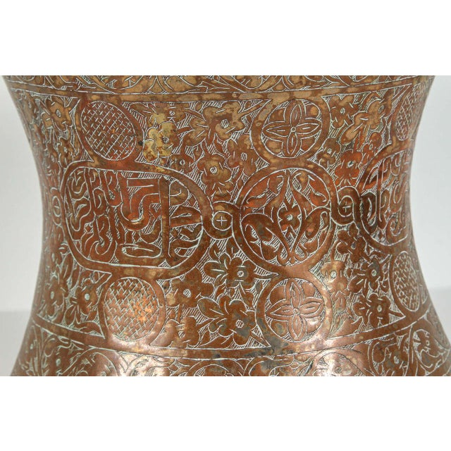 Large 19th Century Persian Copper Bucket With Handle For Sale - Image 4 of 9
