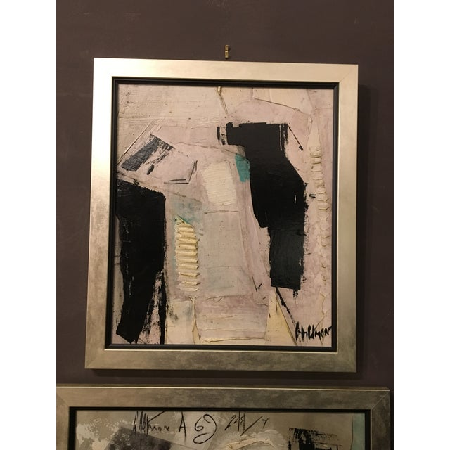 1960s Vintage Abstract Painting by Graham Harmon For Sale In Charleston - Image 6 of 6