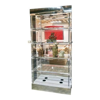 Mid-Century Modern Lucite Display China Storage Display Curio Etagere For Sale