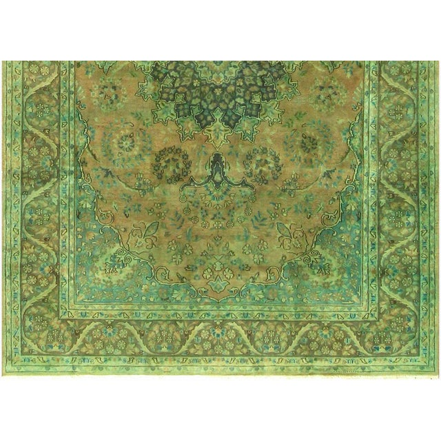Over Dyed Color Reform Shakita Lt. Brown/Lt. Green Wool Rug - 7'9 X 11'4 For Sale In New York - Image 6 of 7