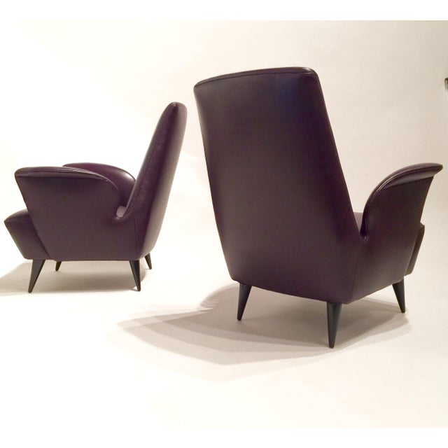 Italian Leather Armchairs - A Pair - Image 3 of 8