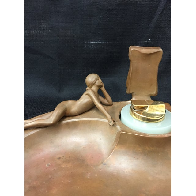 Art Deco Desk Set with Reclining Nude For Sale - Image 4 of 5