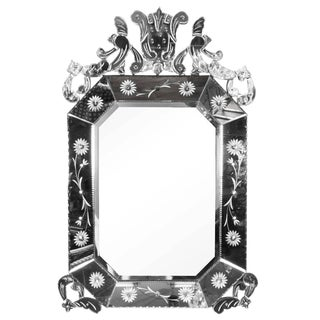 1940s Italian Hollywood Regency Venetian Mirror