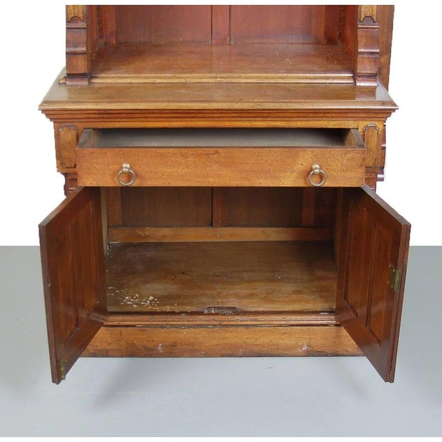 Late 19th Century 19th Century Victorian Renaissance Revival Bookcase Cabinet For Sale - Image 5 of 6
