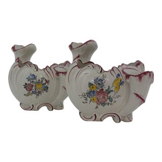 Saxe-Gotha German Faience Vases - a Pair For Sale