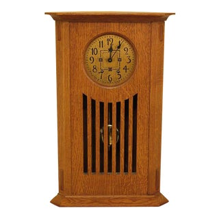 Stickley Mission Oak Corner Mantle Clock