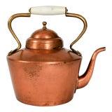 Image of Vintage Copper & Brass Kettle Teapot For Sale