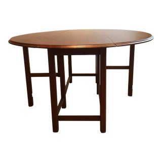 American Classic Ethan Allen Oval Drop-Leaf Dining Table For Sale