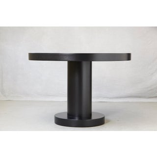 Modern Puristic Oak Center Table in New Black Finish, 1960s Preview
