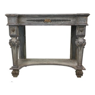 Italian Painted Console Table For Sale