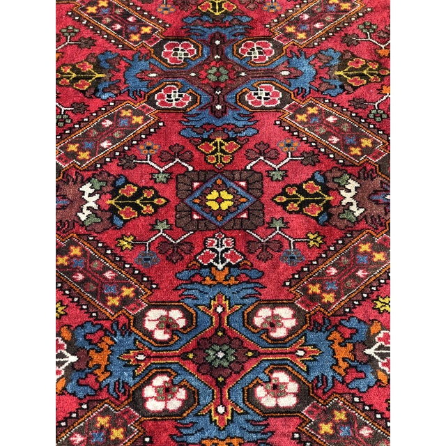 "A 4'3""x7' 60 year old vintage Russian Karabach rug. Thanks for visiting our shop! First and foremost we price ourselves on..."