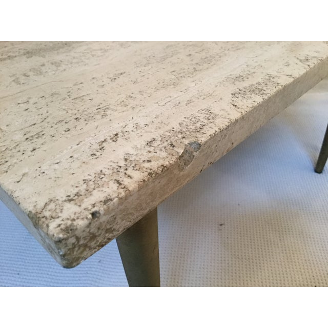 1950's Two Tear Travertine Side Tables - Pair - Image 11 of 11