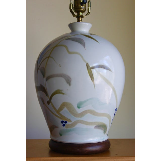 This is an incredibly rare piece by well-known, experimental studio art potter/ ceramicist Glenn Burris. It reflects a...