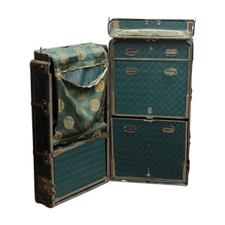 20th Century Traditional Black Hartmann Travel Trunk For Sale