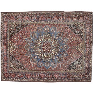 Traditional Style Antique Persian Bakhtiari Area Rug