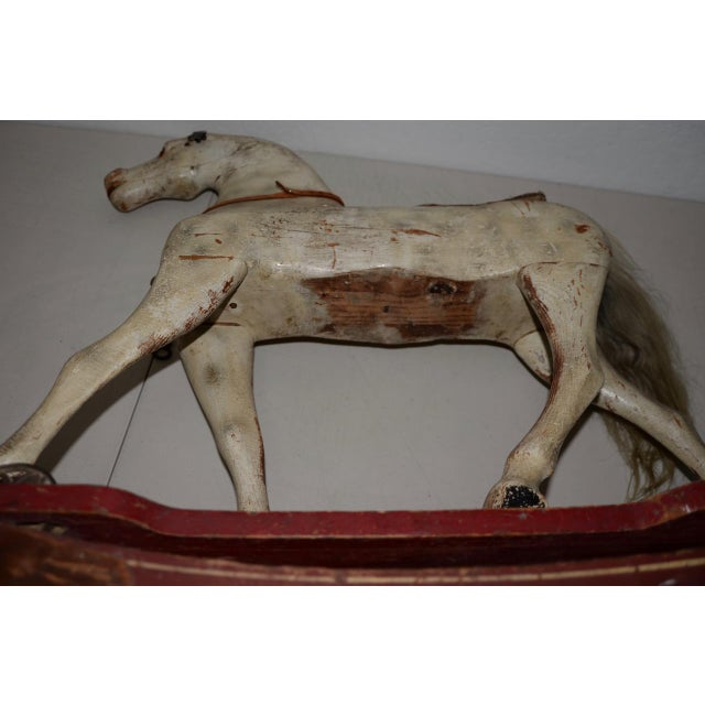 Folk Art 19th Century American Folk Art Rocking Horse For Sale - Image 3 of 11