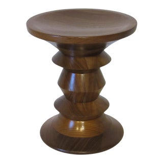 Vintage Eames Walnut Time Life Stool for Herman Miller ( C ) Model For Sale