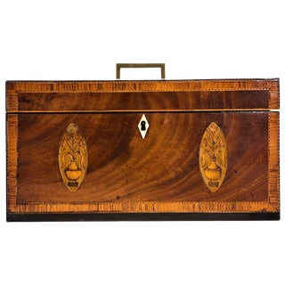 Exceptional George III Inlaid Tea Caddy For Sale