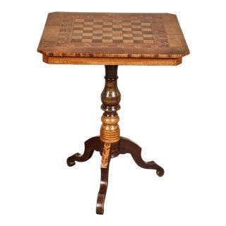 19th Century Italian Sorrento Chess Table For Sale
