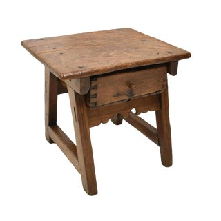 Early 18th Century Spanish Colonial Rustic Small Table For Sale