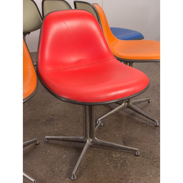 Red La Fonda Eames Chair for Herman Miller For Sale In New York - Image 6 of 11