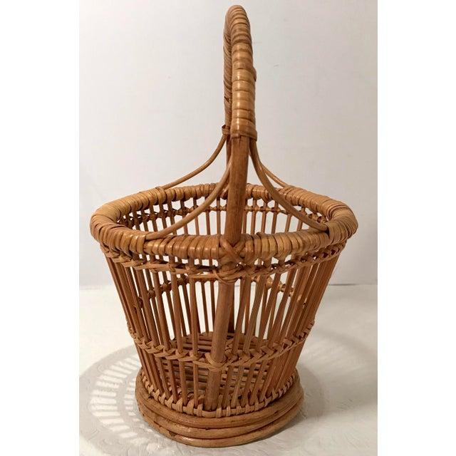 Vintage Handled Basket For Sale - Image 4 of 7